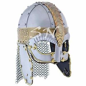 Medieval Norman Viking Armor Helmet GJERMUNDBU Helmet Spectacle Armour Helmet