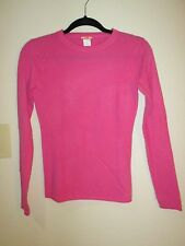 J.Crew 100% Cashmere Pink Long Sleeve Crewneck Sweater SZ XS NWOT Sample