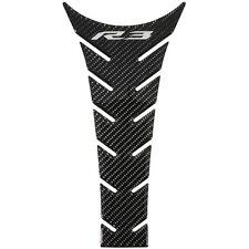 Yamaha YZF-R3 Carbon Fiber Look Tank Pad w/R3 Logo - Fits 2015 - 2018 R3 - New