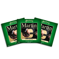3 SETS MARTIN M170 EXTRA LIGHT GAUGE 80 20 BRONZE ACOUSTIC GUITAR STRINGS 10-47