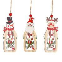 Wooden Wall Pendant Christmas Tree Ornaments Angel Pendant Decor Hanging To S1Z9