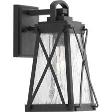 Progress Lighting Creighton Collection 1-Light Small Black Outdoor Wall Lantern