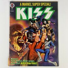 KISS MARVEL SUPER SPECIAL COMIC BOOK VOL. 1 NO. 2 WITH POSTER VINTAGE 1978!