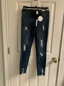 NWT-Girls Justice Destructed Jean Jeggings-Size 14 Slim