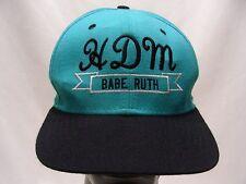 HDM BABE RUTH - BASEBALL - VINTAGE - NEW ERA M/L SIZE SNAPBACK BALL CAP HAT!