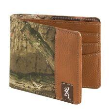 Browning Mossy Oak Camo Men's Bi-Fold Billfold Wallet, Buckmark Logo