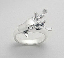 NEW Solid Sterling Silver Deer Reindeer Ring Size 9 BEAUTY 7.94 grams Shiny