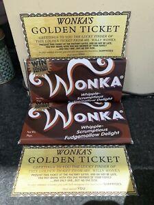 Willy Wonka Chocolate 2005 Replica BIG Bar Gift Novelty Item Golden Ticket 100g