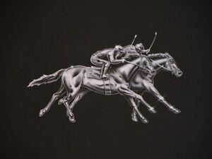 Rare Vtg B&W Photograph Print Santa Anita Horse Racing 8X10