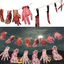 Hanging Bloody Weapons Halloween Horror Props Garland Banner Decoration AU