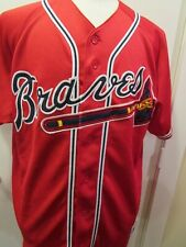 Majestic MLB Atlanta Braves Youth Button Front Jersey, XL