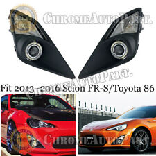 Pair Clear Fog Lights Lamps For 2012-2016 Toyota Gt86/Fr-S W/Corner Light Switch