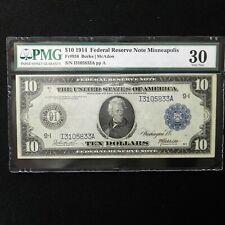1914  $10 FRN  Minneapolis, Fr # 936, PMG 30 Very Fine, Burke/McAdoo