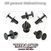 10 x Alojamiento de la rueda clips fijación MERCEDES MITSUBISHI Mini BMW Negro