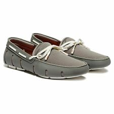 Swims Lace Loafer Gray/White Driving Moccasin Loafer Men's sizes 7-12 New