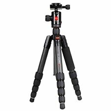 "KingJoy PRO 51"" MM-229C Reversible Column Carbon Fiber,Panoramic Camera Tripod"