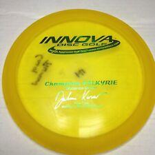 Juliana Korver 5X World Champ Pfn Champion Valkyrie Used 174g Innova Patent #