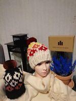 Luxury unique handmade winter hats for women chinchilla fur coat pompon hat 18