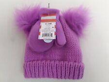 Toddler girls winter hat, mittens set size (12-24M) fleece lined Cat &Jack NWT