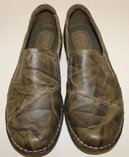 Clarks Bendables Women's 8 Wide Camo Print Slip on Leather Loafers Shoes Sz 8 W