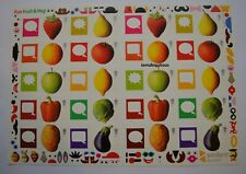 More details for fun fruit and veg 2006  royal mail smilers sheet ls29. gb. free postage.