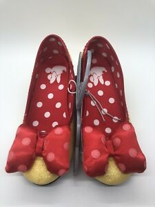Disney Minnie Mouse Youth Girls Cosplay Shoes Heals Size US 13/1 NWT