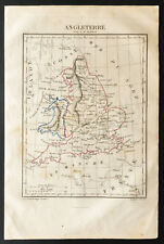 1843 - Angleterre - Carte ancienne - Perrot & Tardieu - Antique Map