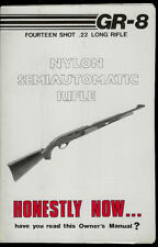 FIE GR-8 22 Cal Nylon Semi Auto Rifle Original Factory Owner's Manual