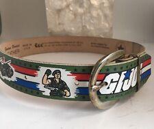Vintage Child's G.I. Joe Leather Belt By Lee Size 18-22 NOS Green 1987