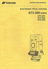 New Topcon Total Station GTS-500 Instruction Manual