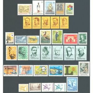 ARGENTINA-1969-COMPLETE YEAR-MNH-