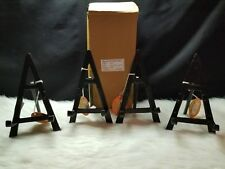 "(Set of 4) Bard's Cast Iron Display Easel - 8"" Black"
