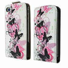 Leather Card Slot Magnetic Flip Full Case Cover Pouch For Apple iPhone 4 4S 4G