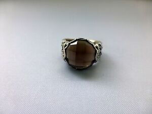 Silpada  Sterling Silver 925 Smoky Quartz Ring Size 7 Made IN Thailand