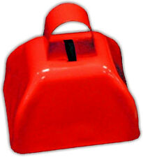 """1 BELL 3"""" Metal Cowbell Red FREE SHIPPING !!"""