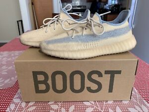 $900 Authentic Adidas Yeezy Boost 350 V2 LINEN Beige Sneakers Sz.10 FREE S&H