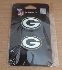 Green Bay Packers Nfl magnets pair Siskiyou set of 2 football cheesehead sports