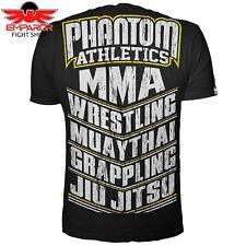 Phantom Athletics t-shirt MMA Sports negro fitness artes marciales Camisa Caballero