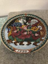 "bing grondahl christmas plate Santa Claus Collection 1990 ""Santa's Sleigh�"