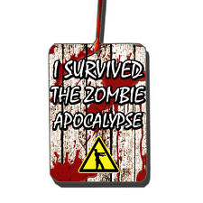 I Survived The Zombie Apocalypse Car Air Freshener | Walking Dead | Zombies