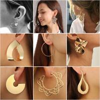 New Large Circle Geometry Metal Alloy Ear Stud Earrings Women Fashion Jewelry