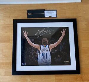 Dirk Nowitzki Dallas Mavericks Signed Autographed Three Photo Panini COA Limited