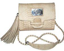MNG by MANGO Beige Croco crossbody purse clutch shoulder bag