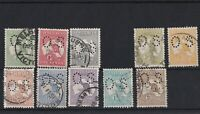 K978) Australia 1913 Kangaroos 1st wmk punctured Small OS set of 10 ½d to 2/-