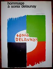 Delaunay Sonia Affiche Lithographie 75 Musée National d'Art Moderne art abstrait