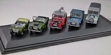 CLASSIC LAND ROVER 5 CAR SET - 1/76 scale model OXFORD DIECAST