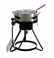 NEW Chard 50,000 BTU 10.5 Qt Propane Outdoor Deep Fryer Aluminum Fish Gas Cooker