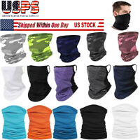 Neck Gaiter Bandana Headband Cooling Face Scarf Shield Head Cover Scarves 20 Col