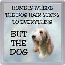 "Grand Basset Griffon Vendeen Dog Coaster ""Home is Where ........."" by Starprint"