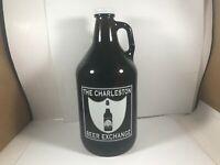 The Charleston Beer Exchange Brown Glass Beer Growler Bottle 64 oz